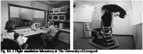 Подпись: Fig. 8A.2 Flight simulation laboratory at The University of Liverpool