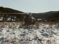 To the place of falling of Mi-8 all-terrain vehicles