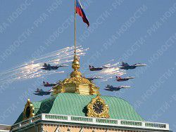 Over Red Square in a smart system 69 planes