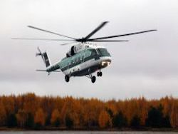 First flight of the new helicopter Mi-38