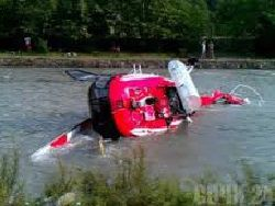 In Moscow the helicopter fell to the river about Myakinino