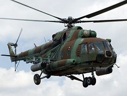The Mi-8T helicopter fell on the world Prospectus in Moscow