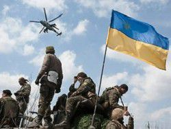 Helicopters of Ukraine strike rocket attacks to Slavyansk
