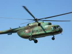 The military MI-17 helicopter was wrecked in Egypt