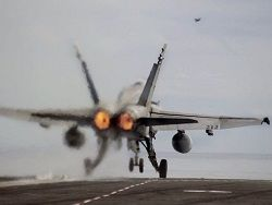 The USA for the first time in 10 days нанеслb some airstrikes